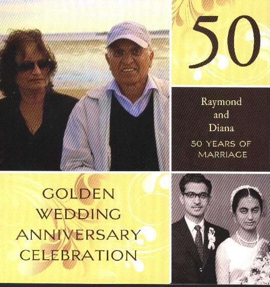RAYMOND AND DIANA MENEZES CELEBRATE GOLDEN WEDDING ANNIVERSARY