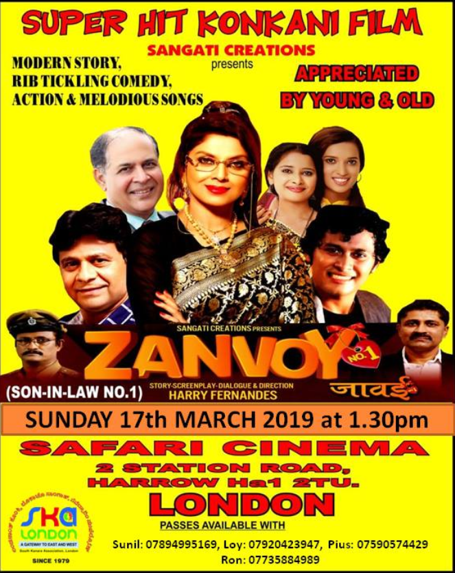 Superhit Konkani Film 'Zanvoy No 1'