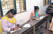 Mangalore: A determined Geetha Bai takes SSLC exam